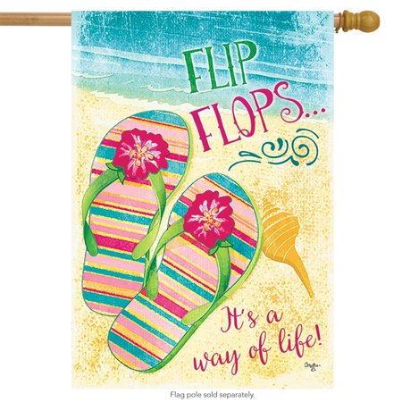 4f894cfdf0696 Way of Life Flip Flops Summer House Flag Beach Nautical 28