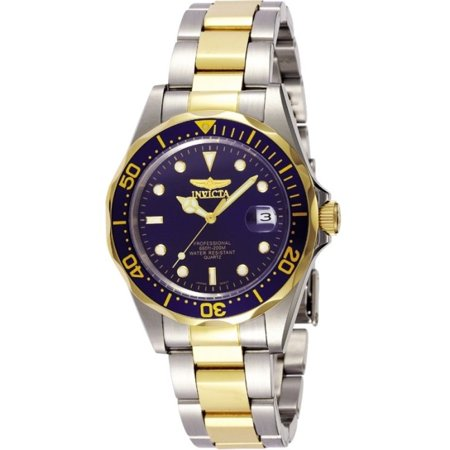 Men's 8935 Pro Diver Collection Blue Dial Two-Tone Stainless Steel Watch (Diver Watch Orange Dial Strap)