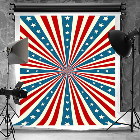 mohome polyester fabric 5x7ft american flag photography backdrops