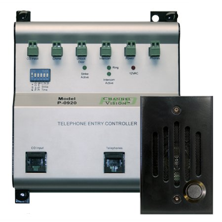 Channel Vision Phone Entry Controller Kit, Black (TE-0282)