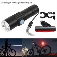 USB Bicycle Front Light Tail Lamp Set LED MTB Bike Bicycle Cycle Head Front Light Rear Tail Lamp Set