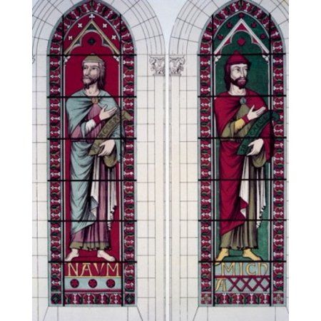 Century Stained Glass - Prophets The Nahum And Micah 13th Century Stained Glass STAINED GLASS Poster Print