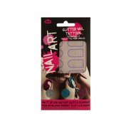 Striped Nail Art Glitter Nail Tattoos Kit (Available in a pack of 24)