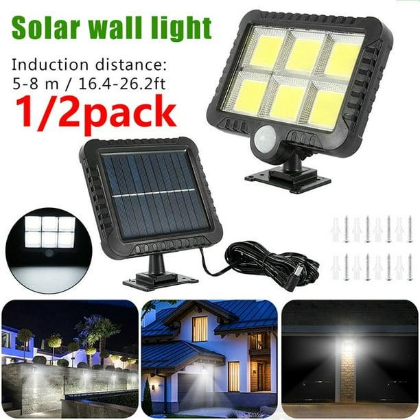 Motion Sensor Solar Powered Wall Light 120 COB LED Home Street Lamp Outdoor New