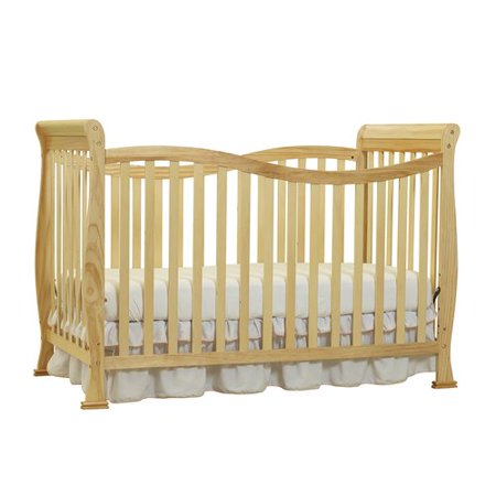 Big Oshi Jessica 7-in-1 Convertible Crib Frame - Modern, Unisex Wood Design for Boys or Girls - Adjustable Height, Low or High - Convertible to Crib, and Day, Toddler, Twin, or Full Bed, Natural