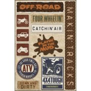 Cardstock Stickers-Off Road