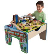 KidKraft Rapid Waterfall Wooden Train Set & Table with 46 accessories included