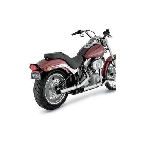 "Python 2.5"" Slash-Cut Slip-On Mufflers Chrome Fits 13-14 Harley-Davidson FXSB Softail Breakout"