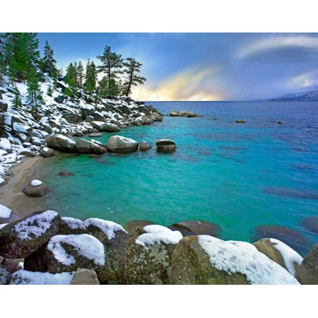 Hidden Beach And Memorial Point Lake Tahoe Nevada Poster Print By Tim Fitzharris