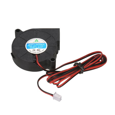 5015 Brushless Cooling Blower Fan DC 12V 0.19A Turbo Small Fan Ultra-Quiet Oil Bearing 6500RPM Size 50 * 50 * 15mm for DIY 3D -