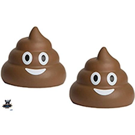 Funny Stress Balls (2 Poop Emojis Stress Balls - Nothing a little poo can't make better - One stress ball for each hand, When Life goes to bad relax with a little poo)