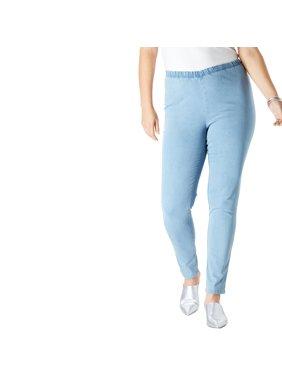 2cb224db8de2 Product Image Roaman's Denim 24/7 Plus Size Petite Skinny Pull-on Stretch  Jean