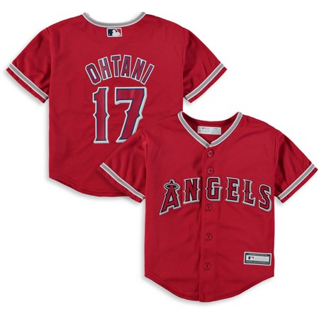 - Shohei Ohtani Los Angeles Angels Preschool Alternate Replica Player Jersey - Red