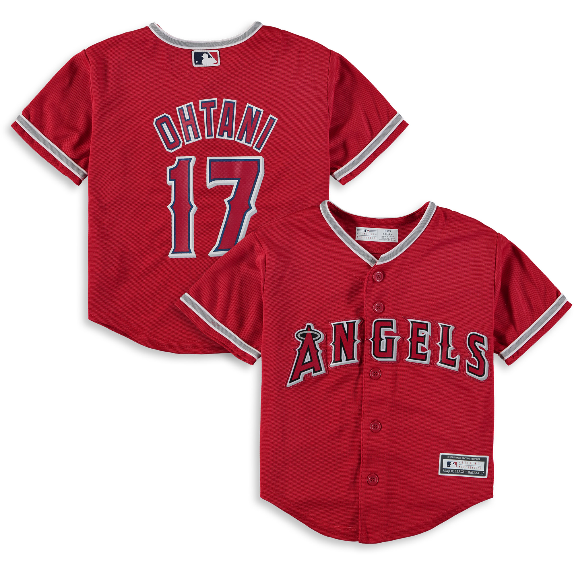 Shohei Ohtani Los Angeles Angels Preschool Alternate Replica Player Jersey - Red