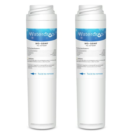 2 Pack Waterdrop GSWF Refrigerator Water Filter Compatible with GE GSWF ()