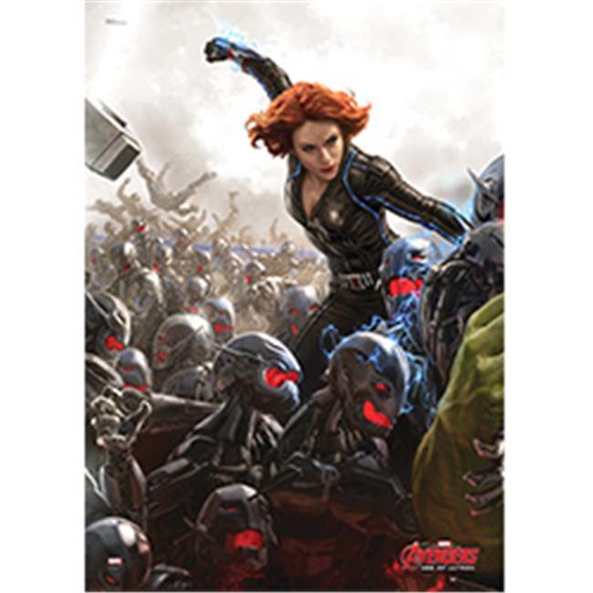 Flim Cells MP17240134 Avengers 2 Mighty Print Wall Art, Black Window