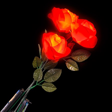 Valentines Day Light Up Dozen Roses 19in LED Accessory, Red, 12 Pack - Valentine Accessories
