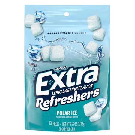 EXTRA Refreshers Polar Ice Chewing Gum, 9.65 Ounce, 120 Pieces