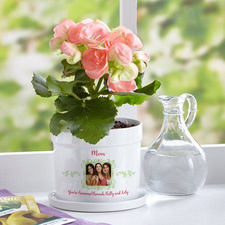 Personalized Picture Perfect Photo Flower Pot