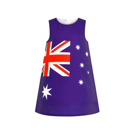Girls Dress Australia National Flag A-line Dress 7 Years