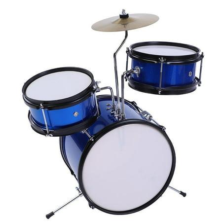 Lv. life 3pieces Junior Children Drum Kit Stool Drumsticks Pedal Beginners Set,Kid Drum Kit, Drum Beginner Set (Studio Instruments Drum Kit)