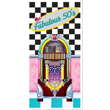 The Fabulous 50's Door Cover Party Accessory (1 count) (1/Pkg)](Ideas For A 50s Theme Party)