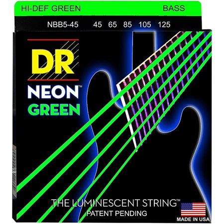DR Strings NEON Hi-Def Green Bass SuperStrings Medium