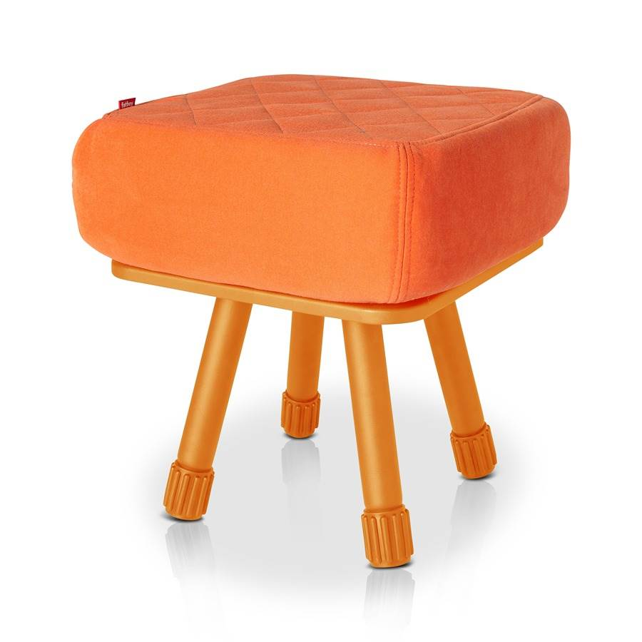 Krukski Stool in Orange with Orange Tablitski Cushion