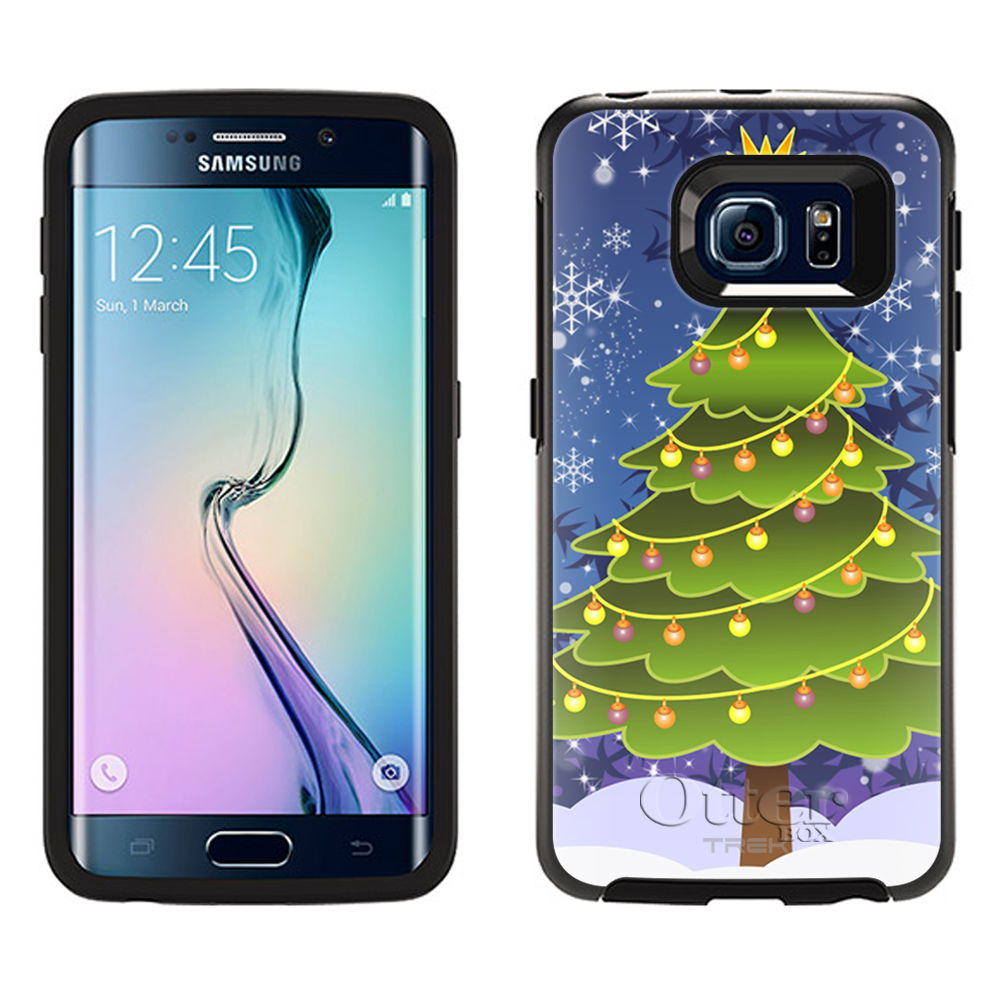 OtterBox Symmetry Samsung Galaxy S6 Edge Case -Christmas Tree on Blue OtterBox Case