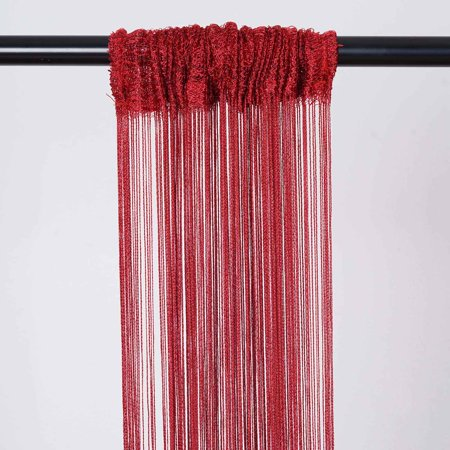 BalsaCircle 4 feet x 12 feet Silk Tassels Fringe Curtains - Wedding Party Ceremony Photo Booth Background Home Windows - Red Carpet Birthday Party