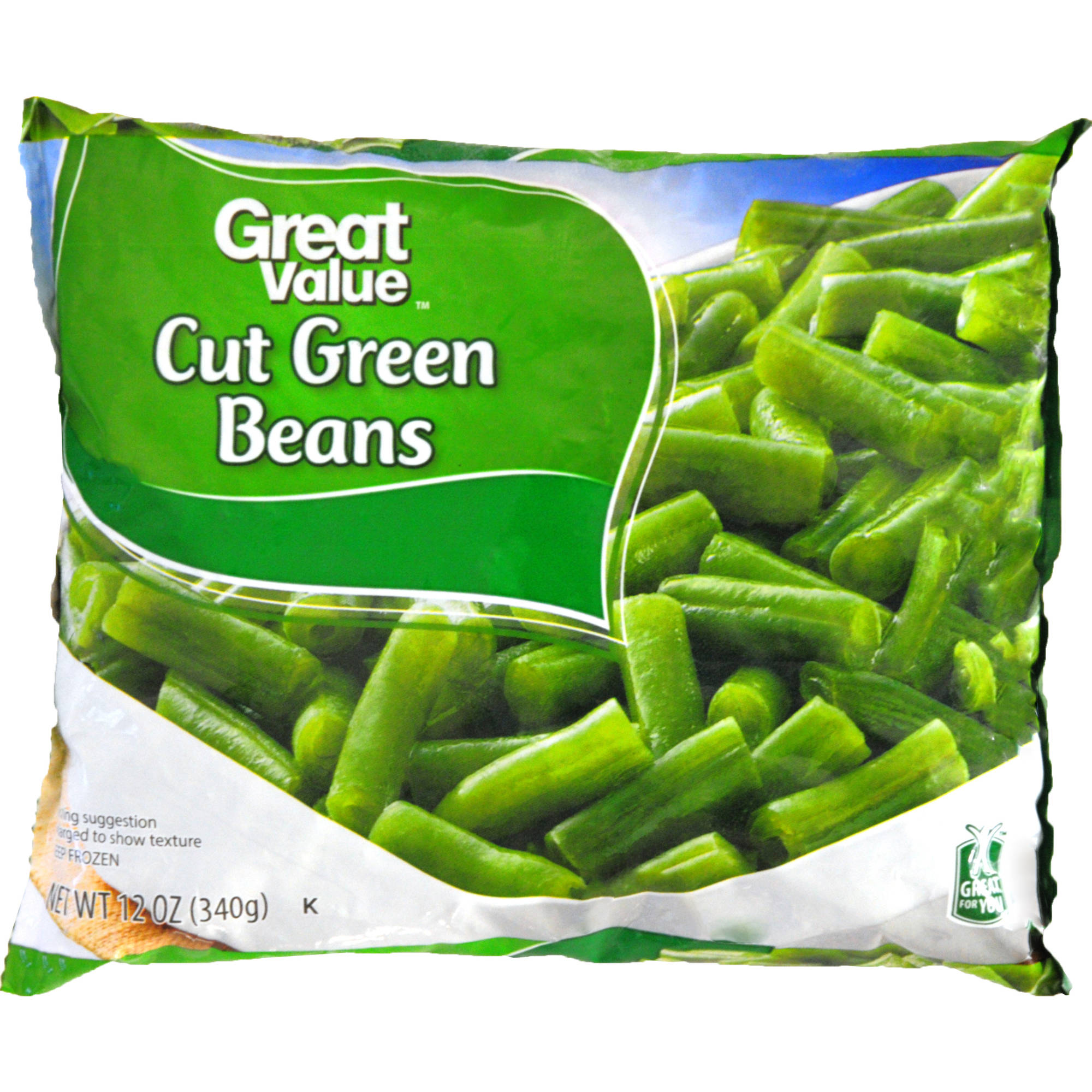 Great Value Frozen Cut Green Beans, 12 oz