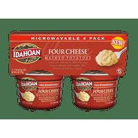 Idahoan Four Cheese Mashed Potatoes - Gluten-Free, Real Idaho Potatoes - 4 Cups (1.5-Ounces Each)