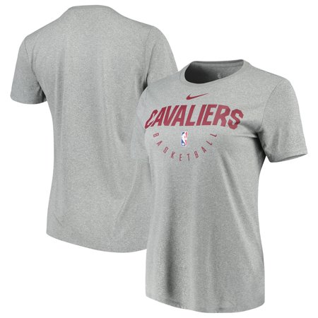 premium selection 560af 60f37 Cleveland Cavaliers Nike Women's Practice Performance T-Shirt - Heathered  Charcoal - Walmart.com
