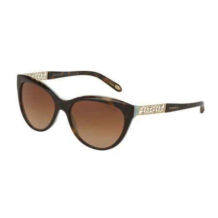 e3ee885b2cad6 Tiffany And Co. Women s TF4119-81343B-56 Brown Cat Eye Sunglasses -  Walmart.com