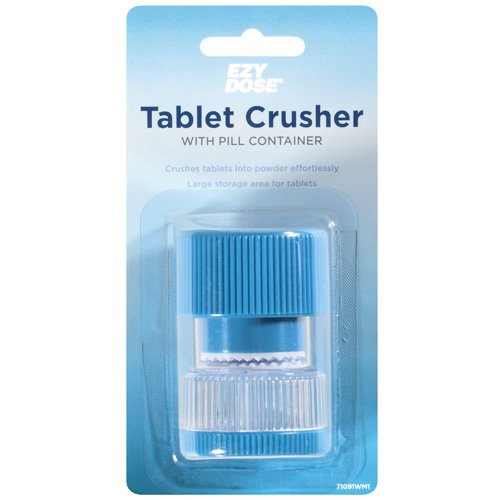 Ezy Dose Tablet Crusher With Pill Container (Color May Vary)