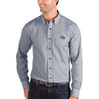 Georgia Tech Yellow Jackets Antigua Structure Woven Button-Up Long Sleeve Shirt - Navy/White
