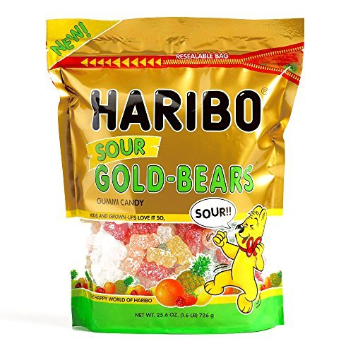 Haribo Sour Gold Bears 25.6 oz each (5 Items Per Order)