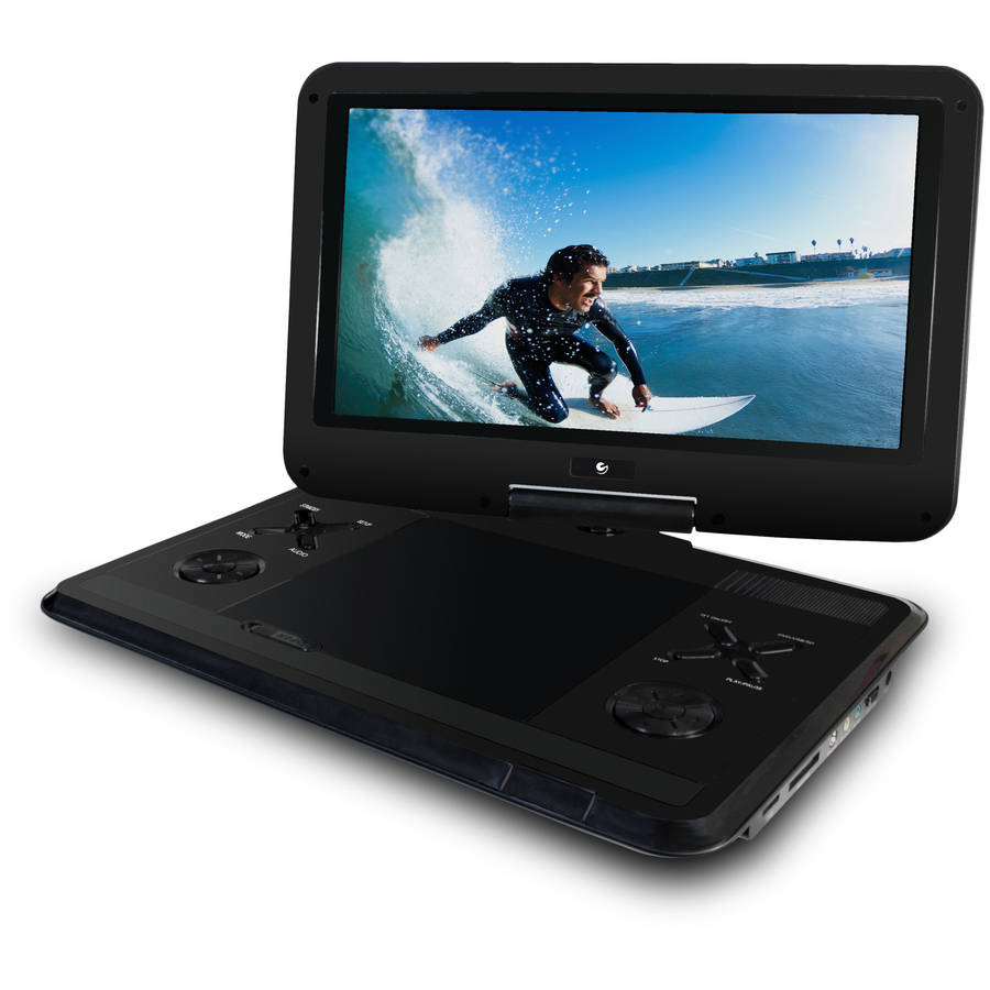 "Ematic 12.1"" Portable DVD Player with Travel Bag and Headphones"