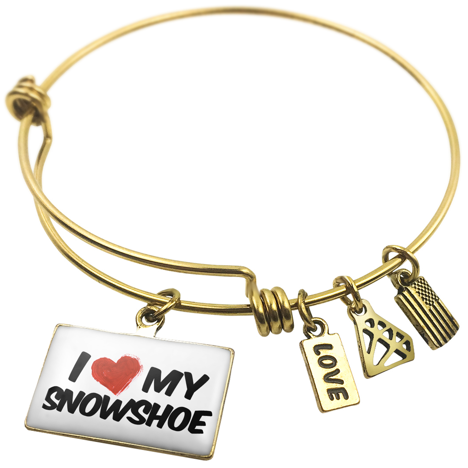 Expandable Wire Bangle Bracelet I Love my Snowshoe Cat from United States NEONBLOND by NEONBLOND