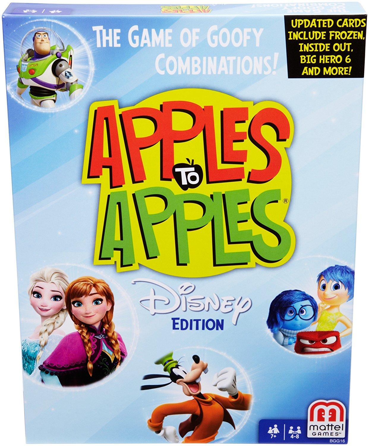 Disney Apples to Apples Card Game, USA, Brand Mattel by