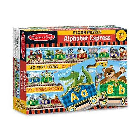 - Melissa & Doug Alphabet Express Jumbo Jigsaw Floor Puzzle (27 pcs, 10 feet long)