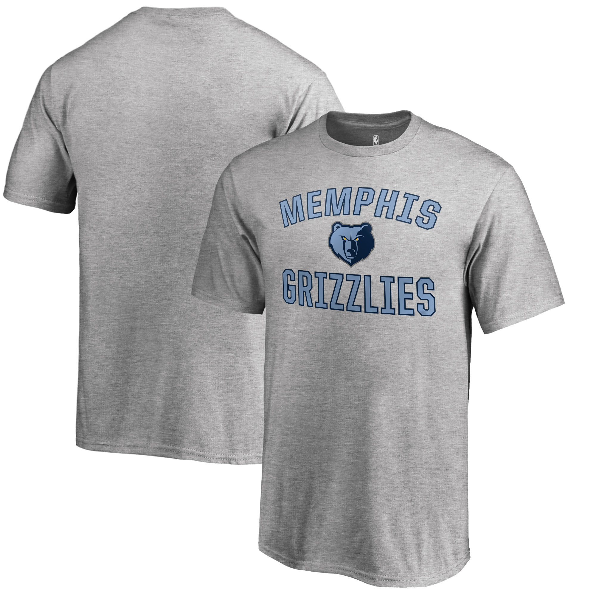 Memphis Grizzlies Fanatics Branded Youth Victory Arch T-Shirt - Heathered Gray