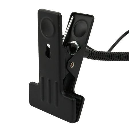 EU Plug 1W 60 Degree Beam Angle 30cm Arm Cool White LED Clip Desk Lamp Black - image 3 of 5