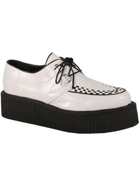 4f3c4c0b48a Product Image Mens 2 Inch Platforms White Basic Veggie Creeper Shoe Punk  Goth MENS SIZING