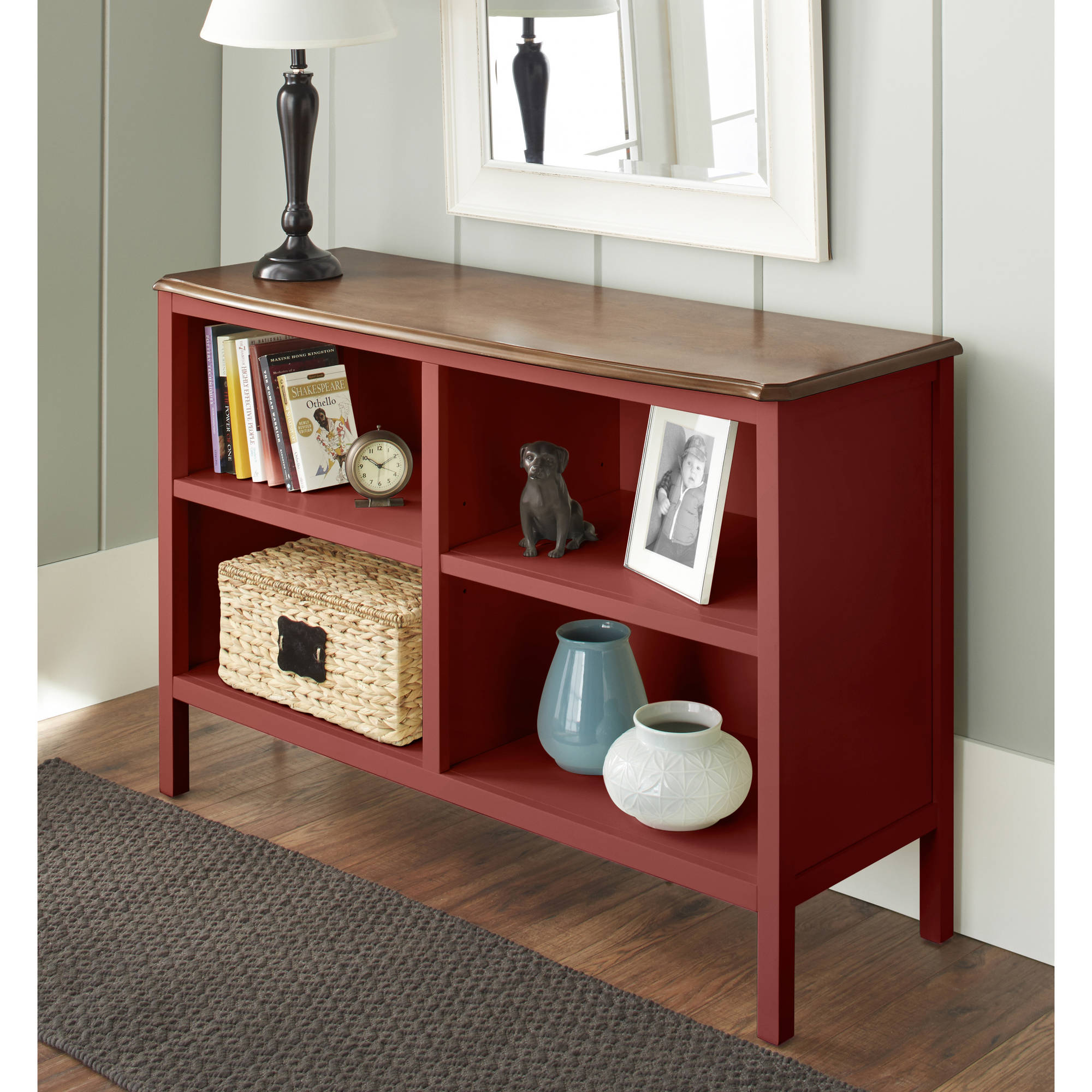 10 Spring Street Hinsdale Horizontal Bookcase, Multiple Colors
