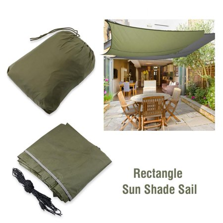 ANGGREK Awning Sunshade,Sun Shelter,Outdoor Rectangle Waterproof Sun Shade Sail Garden Patio Sunscreen Awning Canopy ()