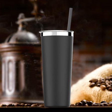1-4 Pack Simple HH Vacuum Insulated Coffee Cup | Double Walled Stainless Steel Tumbler with straw | Travel Flask Mug | No Sweating, Keeps Hot & Cold| 22oz(650ml)|BPA Free Coffee Cup Collectible