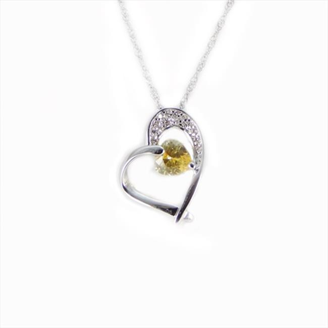 Vecceli Italy SN-075 YLW Steriling Silver Necklace in Yellow