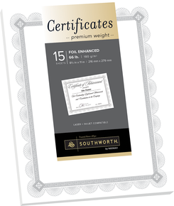Awards Foil Enhanced Certificate Paper Quantity of 6 PT CTP2W by