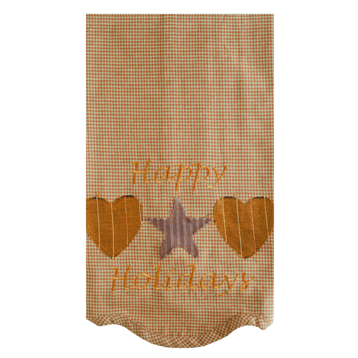 Hearts and Stars Tea Towel Set of 2 19x28